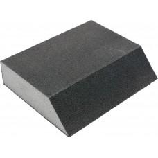 Фото - Губка шлифовальная трапециевидная 4 поверхности VOREL: Р60, 125х 90х65 мм, h= 25 мм, V-08301