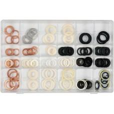 Фото - Прокладки для сливных пробок YATO из различных материалов и различных размеров, 120 шт