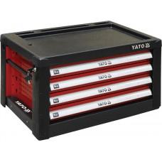 Фото - Шкаф для мастерской с 4-мя ящиками 690 х 465 х 400 мм, YATO YT-09152