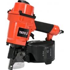 Фото - Пистолет гвоздезабивной, пневматический, барабанный YATO YT-09212 для гвоздей t = 2.1-2.3 мм, h = 25-57 мм, 8 Bar