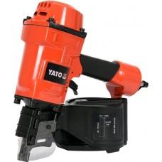 Фото - Пистолет гвоздезабивной, пневматический, барабанный YATO YT-09213 для гвоздей t = 2.3-2.9 мм, h = 45-70 мм, 8 Bar