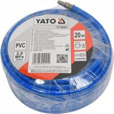 Фото - Шланг пневматический ПВХ YATO с быстросъемными наконечниками YT-24221