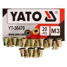Фото - Гайки заклепочные стальные YATO YT-36470