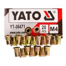 Фото - Гайки заклепочные стальные YATO YT-36471