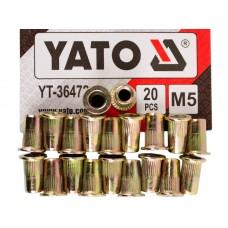 Фото - Гайки заклепочные стальные YATO YT-36472