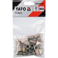 Фото - Гайки заклепочные стальные YATO YT-36474