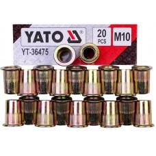 Фото - Гайки заклепочные стальные YATO YT-36475