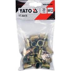 Фото - Гайки заклепочные стальные YATO YT-36476