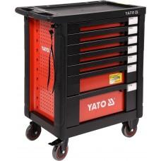 Фото - Шкаф с инструментами 98 х 77 х 46,5 см, 211 элементов, 5 лотков YATO YT-55290