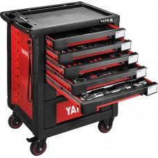 Фото - Шкаф с инструментами 95,8 х 76,6 х 46,5 см, 165 элементов, 13 лотков YATO YT-55293