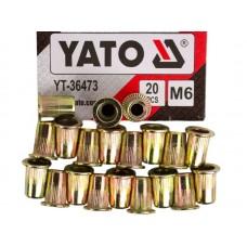 Фото - Гайки заклепочные стальные YATO YT-36473