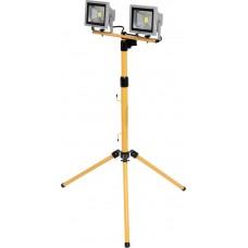 Фото - Прожекторы 2 LED-диодные на штативе h = 0.7-1.7м сетевой YATO YT-81789