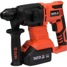 Фото - Перфоратор аккумуляторный SDS + YATO YT-82770: Li-Ion 18 В, 3 Ач, J = 2 Дж, Ø≤18 мм (бетон), с зарядным устройством
