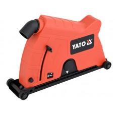 Фото - Кожух пылезащитный к УШМ для резки YATO: на диск Ø230 мм, глубина реза - 60 мм, зона действия - 50-65 мм