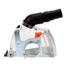 Фото - Кожух пылезащитный к УШМ для резки YATO: на диск Ø115/125 мм, глубина реза - 32 мм, зона действия - 28-36 мм