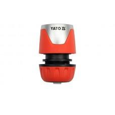Фото - Муфта быстросъемная с водо-стопом для водяного шланга 1/2 ', YATO YT-99803