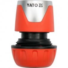 Фото - Муфта быстросъемная с водо-стопом для водяного шланга 1/2 ', YATO YT-99804