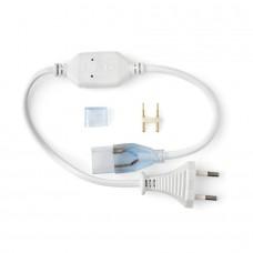 Фото - 10/1 Адаптер питания для светодиодной ленты 5 mm+коннектор 2 pin 220V 120-2835, IP65