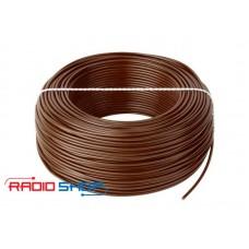 Фото - Провод монтажный медный LgY 1x1,0 H07V-K коричневый 100м