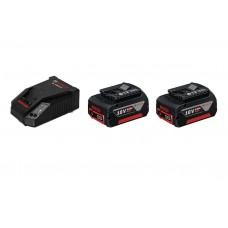 Фото - Аккумуляторный комплект BOSCH 2 х GBA 18V 5.0 Ah + 1 x GAL 1880 CV