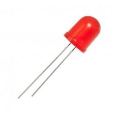 Фото - Светодиод D = 10 мм, красный, диффузный (матовый), 1003U4FD, 60 град., 1 cd