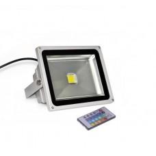 Фото - Прожектор светодиодный LED Star, RGB с пультом, 220V, 20Вт, IP65