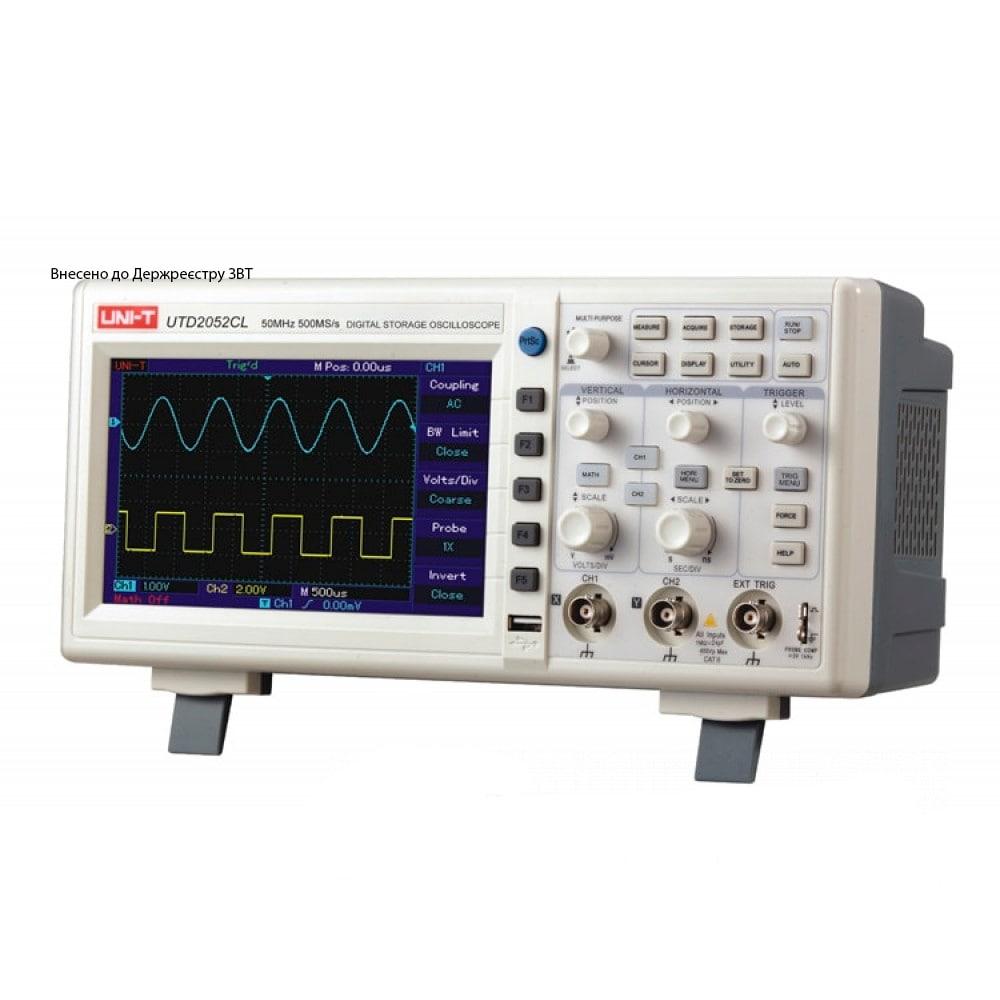 Фото №1 - Двухканальный цифровой осциллограф  Uni-T UTD2052CL