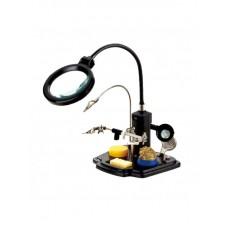 Фото - Держатель плат с увеличительной линзой и держателем паяльника Pro'sKit SN-396