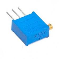 Фото - Подстроечный резистор 100 Ом, (шаг 5x2,5)
