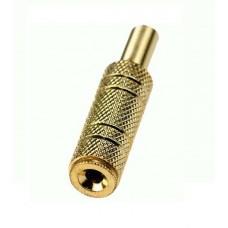 Фото - Гнездо 3,5 стерео, корпус металл gold, кабельное