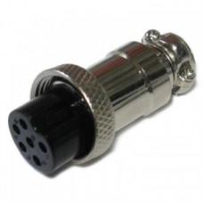 Фото - Гнездо гарнитурное 6pin D-12мм под кабель корпус металлический