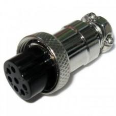 Фото - Гнездо гарнитурное 6pin D-16мм под кабель корпус металлический