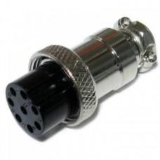 Фото - Гнездо гарнитурное 10pin D-20мм под кабель корпус металлический