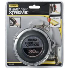 Фото - Рулетка 30м х 9,5мм с автосмоткой FatMax Self Retract стальная лента, закрытый алюминиевый корпус 0-34-203 Stanley