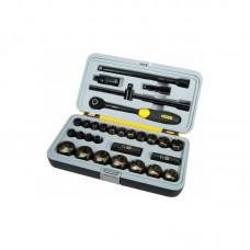 Фото - Набор инструментов 30 ед. 1/2 (головки удлинители., кардан, вороток, трещотка) 1-94-662 Stanley