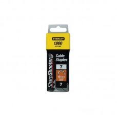 Фото - Скобы 14мм (1000шт.) кабельные тип СТ (для степлера 6-CT10) 1-CT109T Stanley
