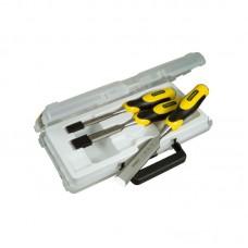 Фото - Набор стамесок 3 ед. усиленых (12, 18, 25мм, пластиковый кейс) 2-16-883 Stanley