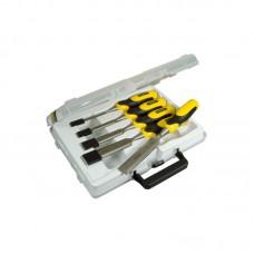 Фото - Набор стамесок 5 ед. (пластиковый кейс) серия Stanley DynaGrip™ ( 6, 12, 18, 25, 32 мм) 2-16-885 Stanley