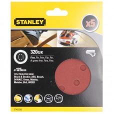 Фото - Комплект абразивных листов 5 ед. Ф125мм коричневый корунд STA32262 Stanley