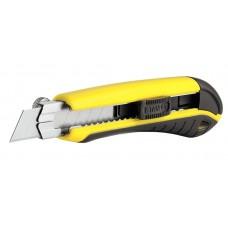 Фото - Нож 18мм сегментированное лезвие 175мм металическая направляющая, фиксатор, самоблокировка 1-10-480 Stanley