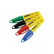 Фото - Маркеры-мини Stanley® с заостренным наконечником в наборе 4шт. (черный, красный, синий, зеленый) 2-47-329 Stanley
