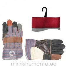 Фото - Перчатка комбинированная из кожи и ткани 10.5' INTERTOOL SP-0004