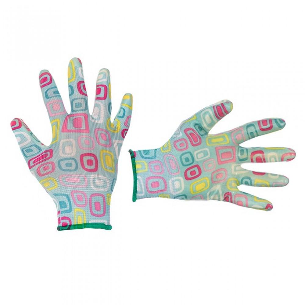 Фото №1 - Перчатки садовые с нитриловым покрытием 8
