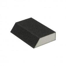 Фото - Губка для шлифования трапеция 110*75*54*25 мм, оксид алюминия К180 INTERTOOL HT-0818