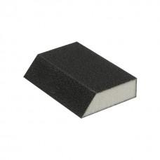 Фото - Губка для шлифования трапеция 110*75*54*25 мм, оксид алюминия К240 INTERTOOL HT-0824