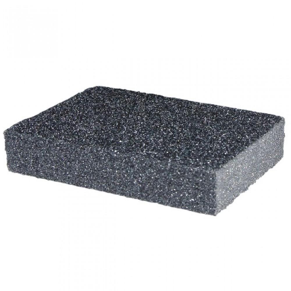 Фото №1 - Губка для шлифования 100x70x25 мм, оксид алюминия К80 INTERTOOL HT-0908