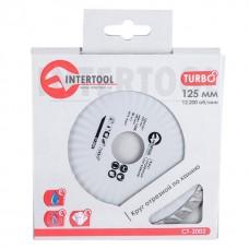 Фото - Диск отрезной Turbo, алмазный 125 мм, 16-18% INTERTOOL CT-2002