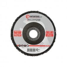 Фото - Диск зачистной из вспененного абразива черный 125*22,2*13 мм, P46, T27 INTERTOOL BT-0602