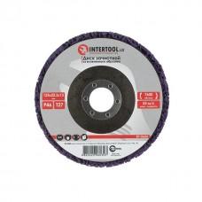 Фото - Диск зачистной из вспененного абразива фиолетовый 125*22,2*13 мм, P46, T27 INTERTOOL BT-0603