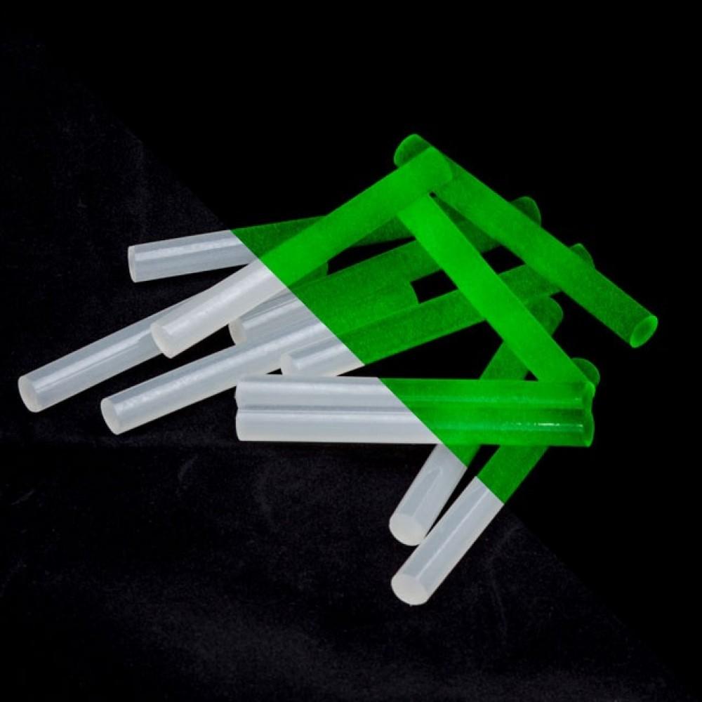 Фото №1 - Комплект флуоресцентных клеевых стержней 11.2 мм*100мм, 12 шт INTERTOOL RT-1037